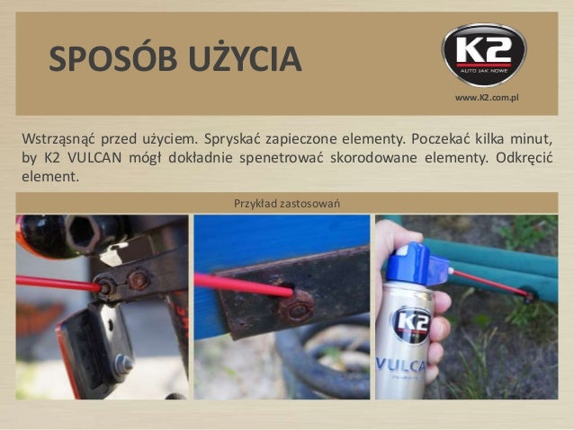 W115 K2 Vulcan - Super skuteczny produkt do odkrecania srub  Slide 3