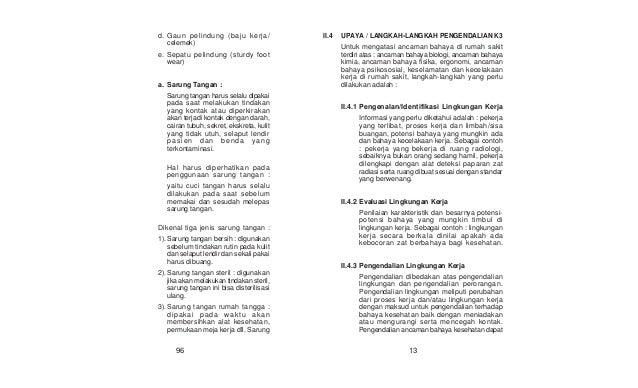 K3 Ifrs Pedoman Kesehatan Dan Keselamatan Kerja Istalasi Rumah Sakit