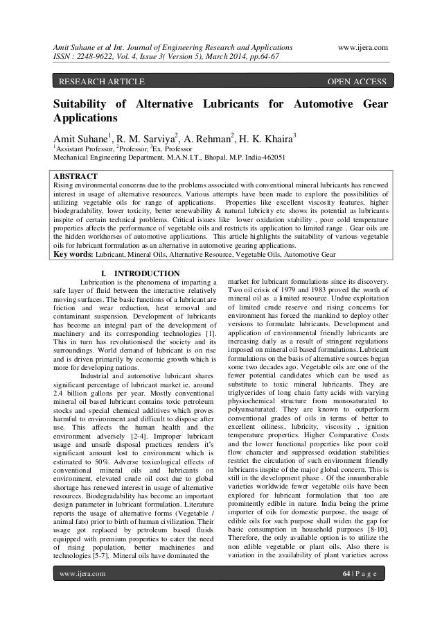 Amit Suhane et al Int. Journal of Engineering Research and Applications www.ijera.com ISSN : 2248-9622, Vol. 4, Issue 3( V...
