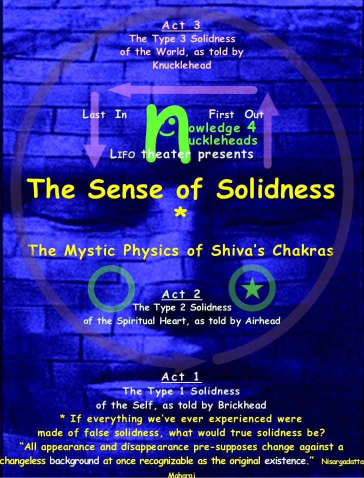 Act 3                             The Type 3 Solidness                           of the World, as told by                 ...