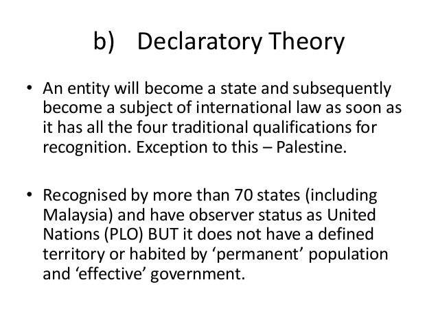 declaratory theory of law
