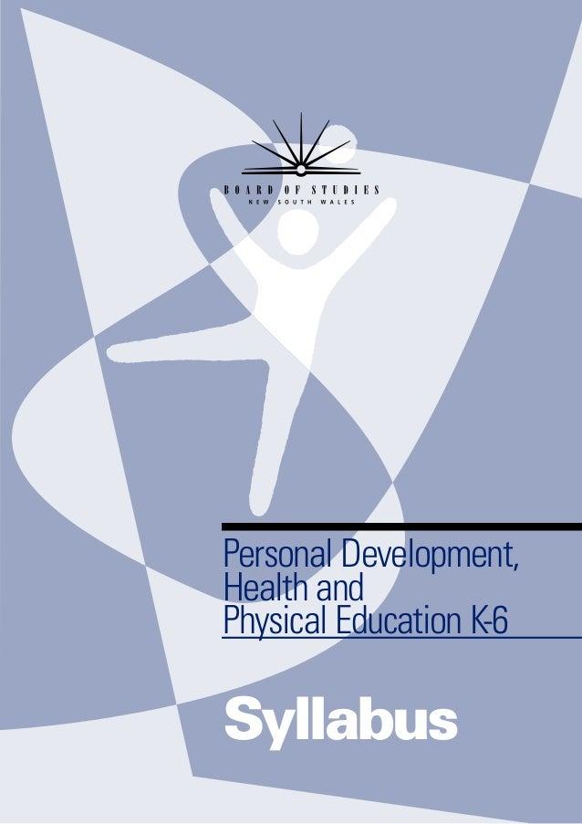 Personal Development,Health andPhysical Education K-6Syllabus