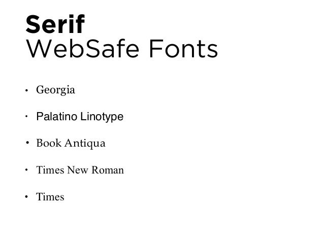 Sans Serif  WebSafe Fonts  • Arial  • Helvetica  • Impact  • Lucida Sans Unicode  • Tahoma  • Trebuchet MS  • Verdana  • G...