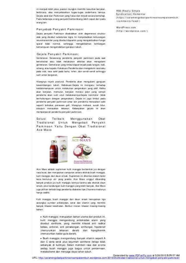 obat tradisional untuk mengobati penyakit parkinson Slide 2