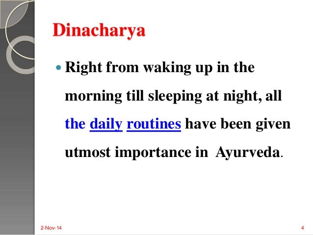 daily routine in sanskrit