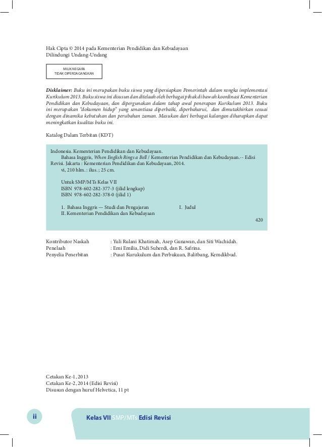 Kunci Jawaban Buku Bahasa Indonesia Kelas 7 Kurikulum 2013 ...