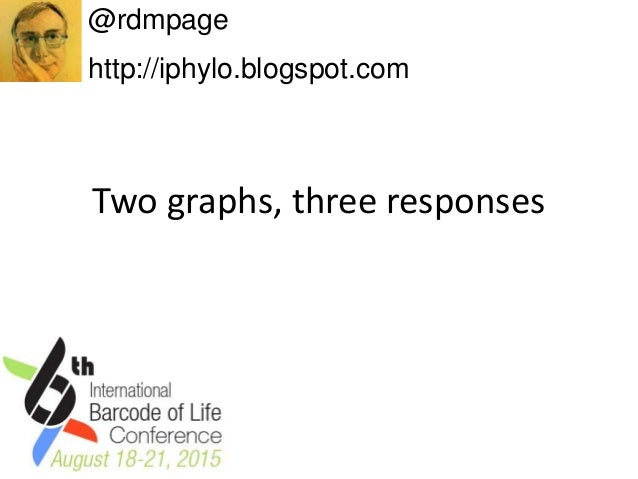 Two graphs, three responses @rdmpage http://iphylo.blogspot.com