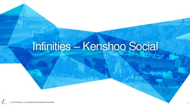 Infinities – Kenshoo Social  © 2014 Kenshoo, Inc. Confidential and Proprietary Information 1
