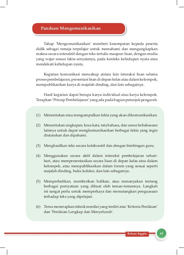 Buku Guru Bahasa inggris Kelas VIII SMP Kurikulum 2013