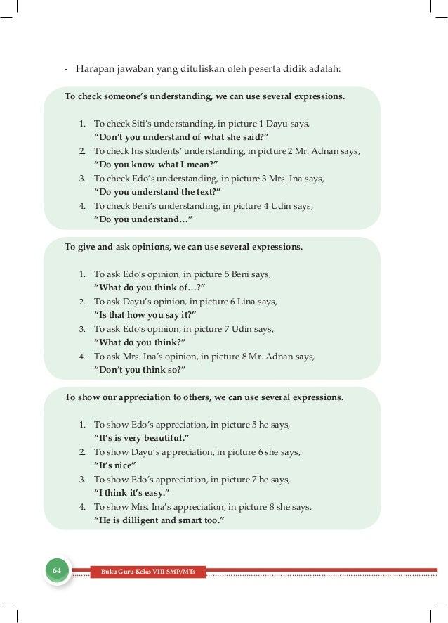 Kunci Jawaban Buku Paket Bahasa Inggris Kelas 8 Kurikulum ...
