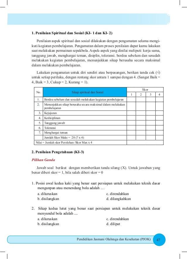 Kunci Jawaban Buku Paket Penjaskes Kelas 8 Kurikulum 2013 Hal 158 Ilmusosial Id