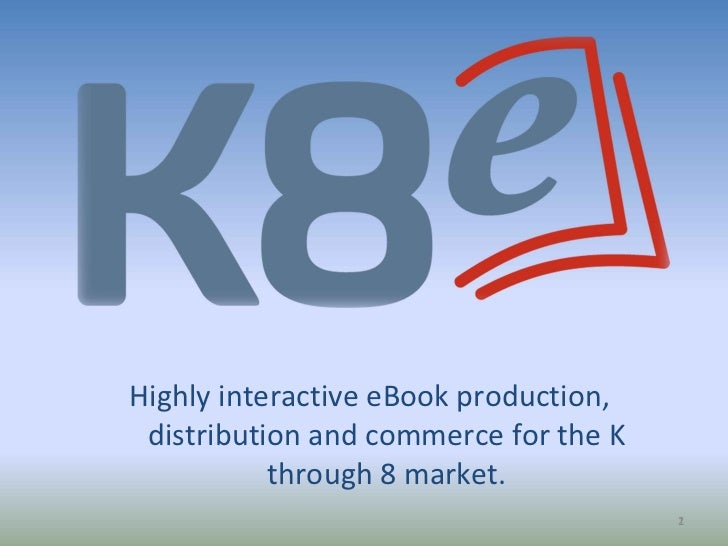 Highly interactive eBook production,  distribution and commerce for the K through 8 market.