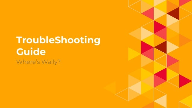 1. TroubleShooting Guide