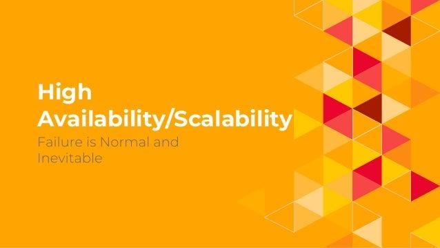 1. High Availability/Scalability