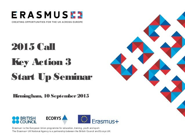 Erasmus+ is the European Union programme for education, training, youth and sport. The Erasmus+ UK National Agency is a pa...