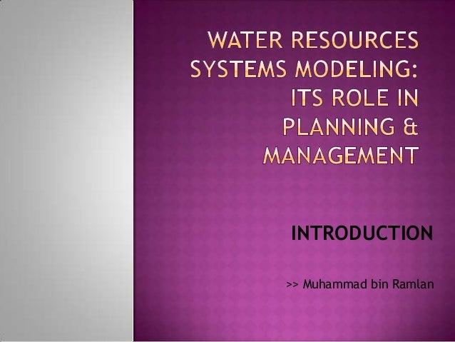 INTRODUCTION>> Muhammad bin Ramlan