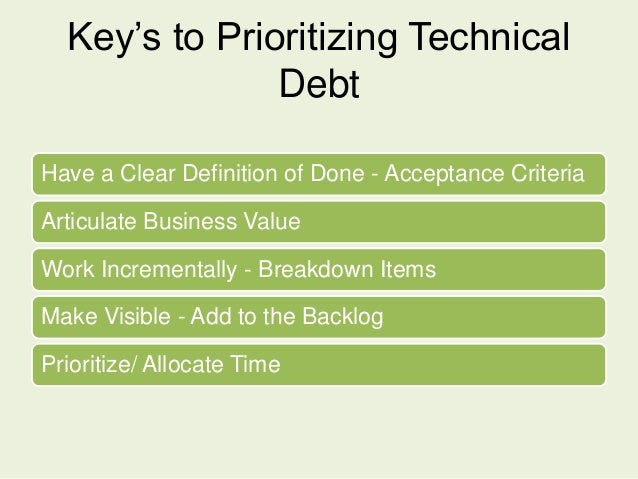 21 21 1 2 1211 21 21 1 2 1211 Feature Story Technical Debt Story Two Backlogs Prioritized Independently 80/20 Allocation S...