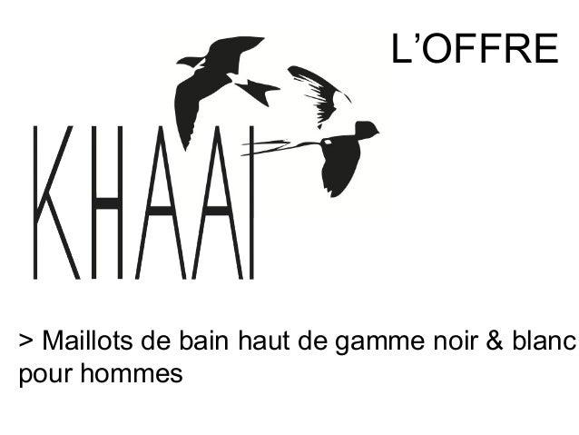 L'OFFRE> Maillots de bain haut de gamme noir & blancpour hommes