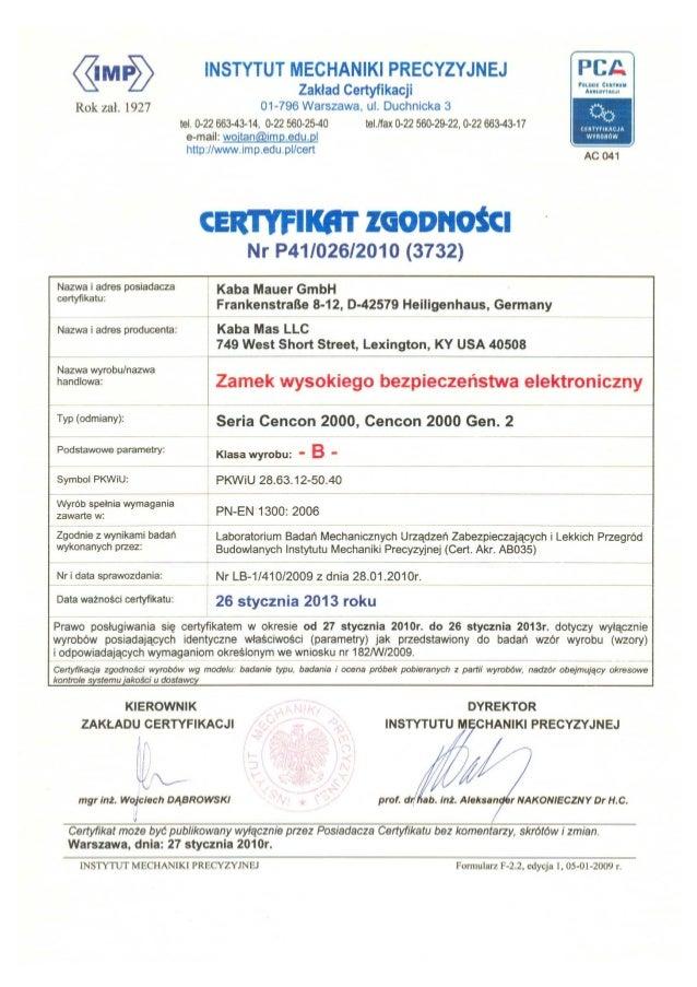 Kaba cencon2000 certificate_imp_01