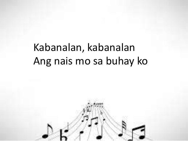 Kabanalan, kabanalan Ang nais mo sa buhay ko