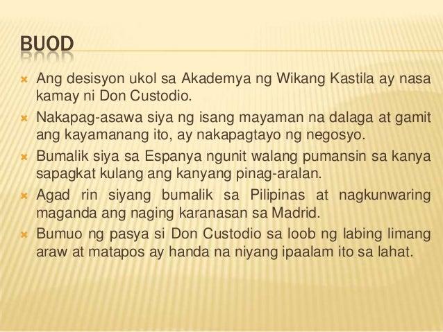 kasukdulan sa el fili Kabanata xximga anyo ng taga-maynila buodnang gabing iyon ay may pagtatanghal sa teatro de variendades, ang les choches de corneville ng bantog na mga pranses ubos kaagad ang tiket, at.