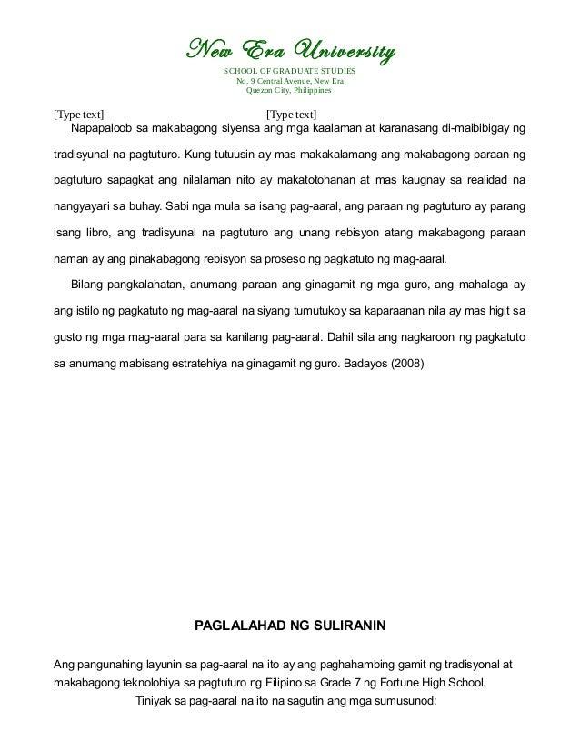 impluwensya ng makabagong teknolohiya sa pagtuturo ng mag-aaral thesis