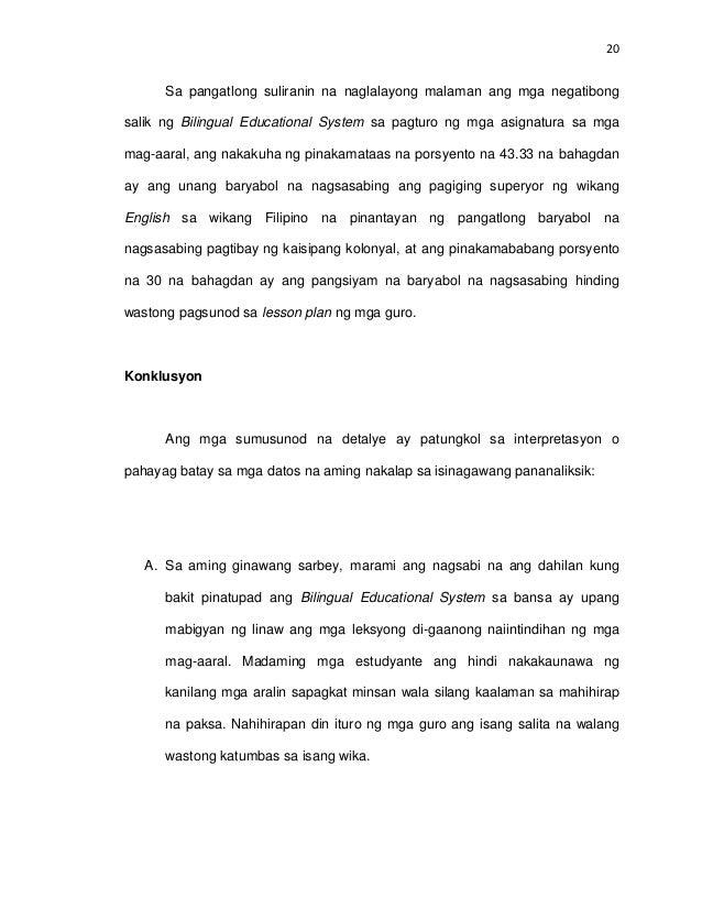 thesis kabanata 5 lagom konklusyon at rekomendasyon