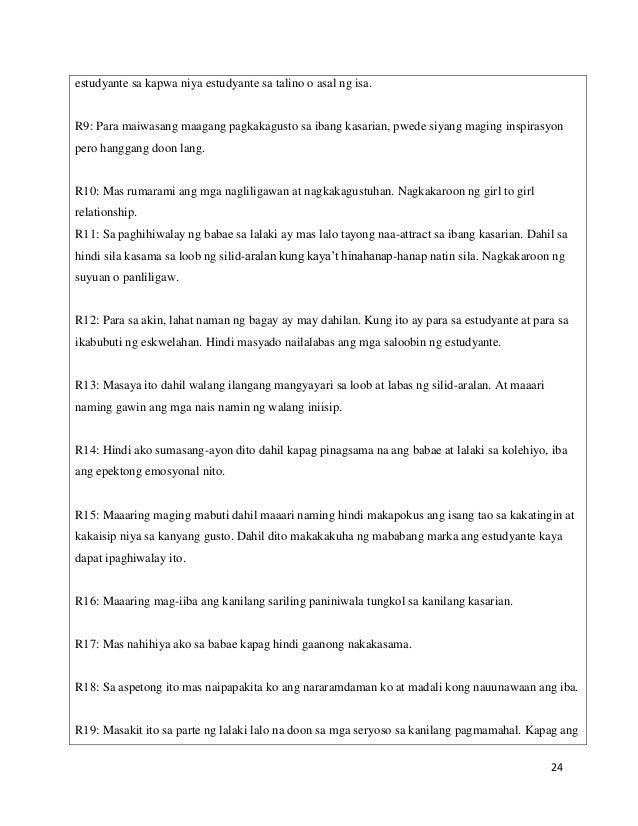 epekto ng maagang pagbubuntis ng mga kabataan thesis
