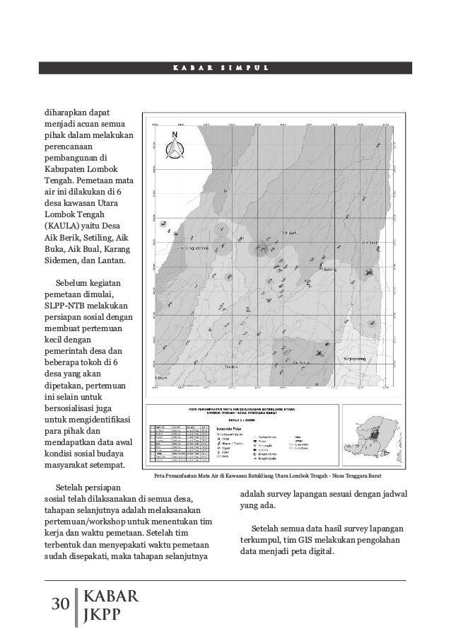 KABAR JKPP 30 K A B A R S I M P U L diharapkan dapat menjadi acuan semua pihak dalam melakukan perencanaan pembangunan di ...