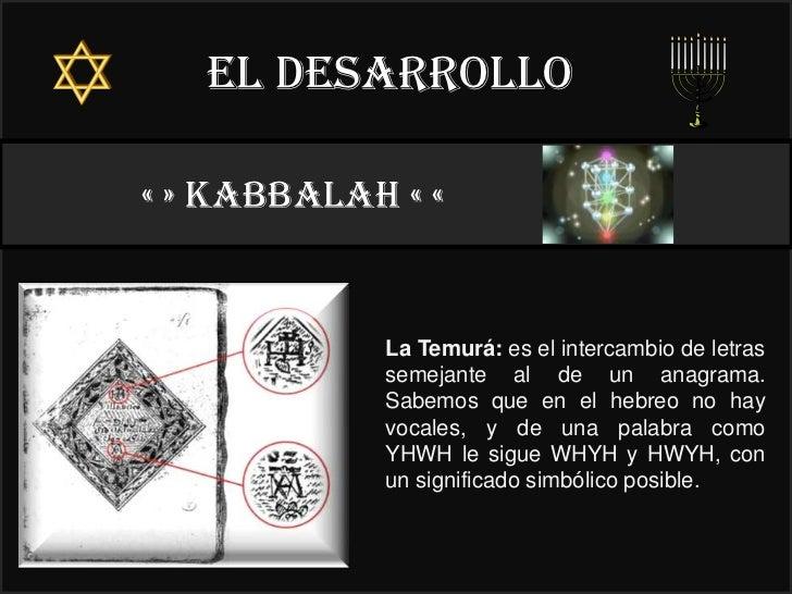 El desarrollo« » kabbalah « «                              22°            La Temurá: es el intercambio de letras          ...