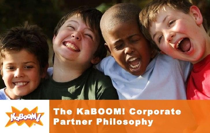 The KaBOOM! Corporate Partner Philosophy
