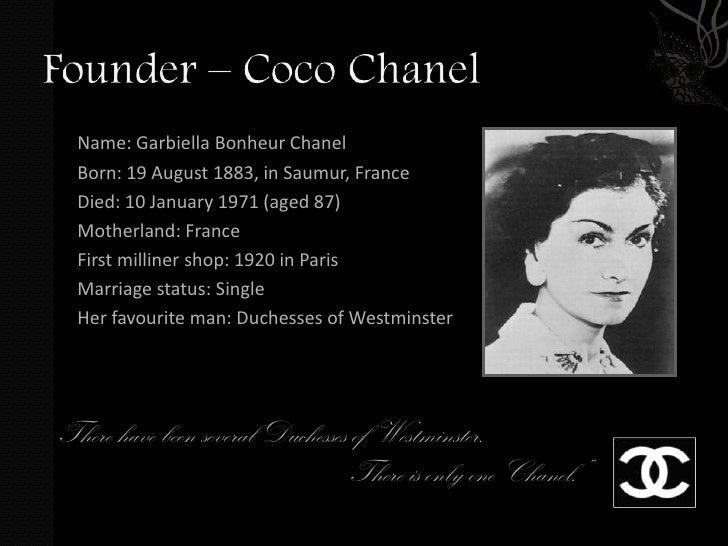 coco chanel autobiography