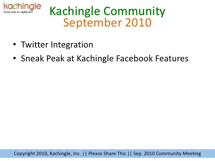September 2010<br /><ul><li>Twitter Integration