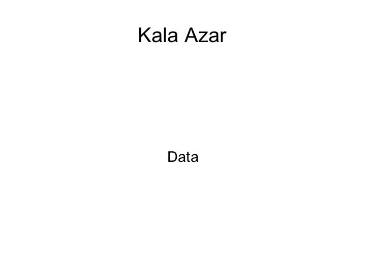 Kala Azar  Data