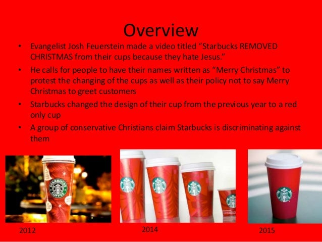 Controversy Over Starbucks Christmas Cups
