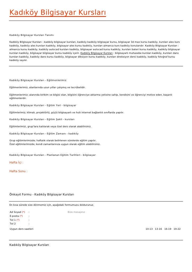 Kadıköy Bilgisayar KurslarıKadıköy Bilgisayar Kursları TanımıKadıköy Bilgisayar Kursları : kadıköy bilgisayar kursları, ka...