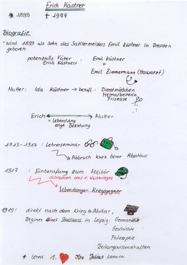 Erich Kästner Lebenslauf