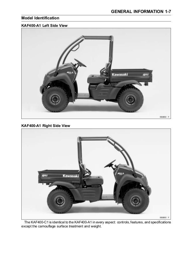 kaf400 mule 600 610 4x4 05 service manual rh slideshare net Kawasaki Mule Wiring-Diagram Blueprints Kawasaki Mule 610 4x4 Specifications