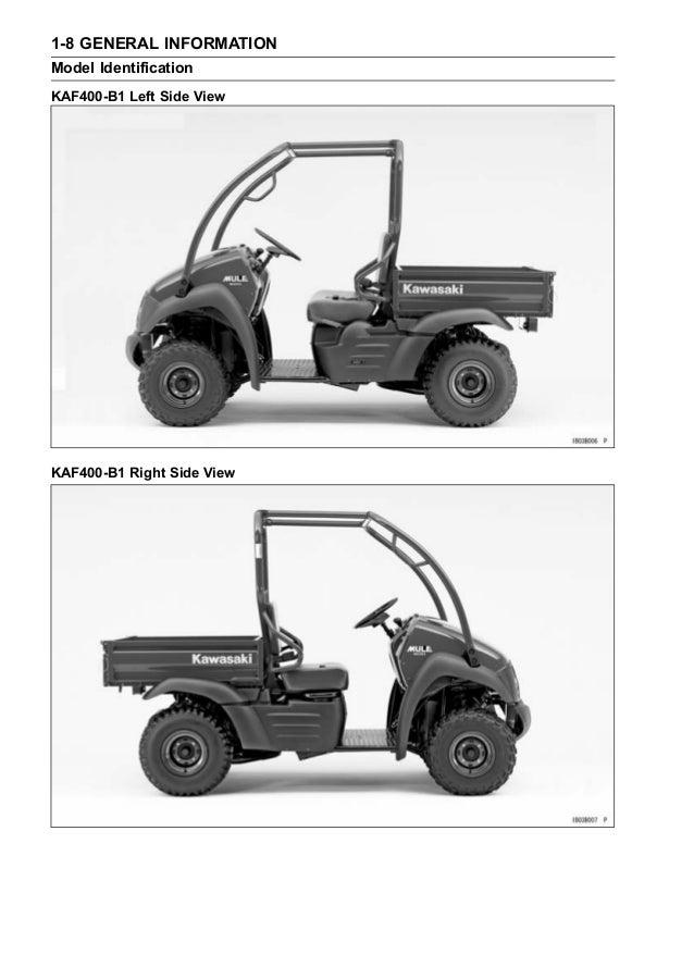 Kaf400 mule 600 610 4x4 '05 service manual