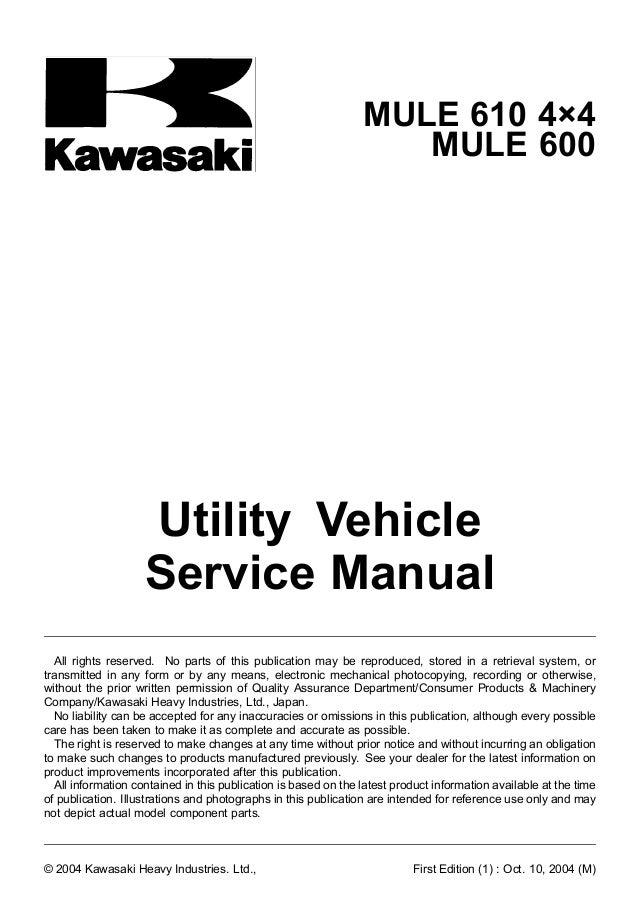 Kaf400 Mule 600 610 4x4 '05 Service Manual. Kawasaki. Kawasaki 610 Carburetor Schematic At Scoala.co