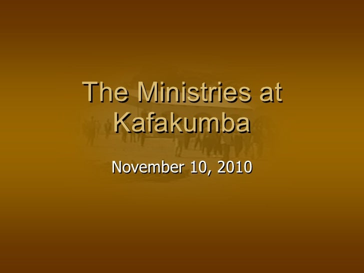 The Ministries at Kafakumba November 10, 2010