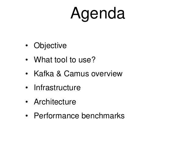 Architecture of a Kafka camus infrastructure Slide 2