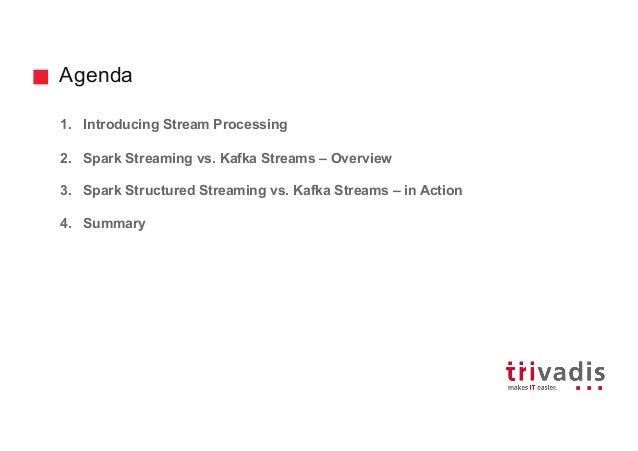 Spark (Structured) Streaming vs. Kafka Streams Slide 2