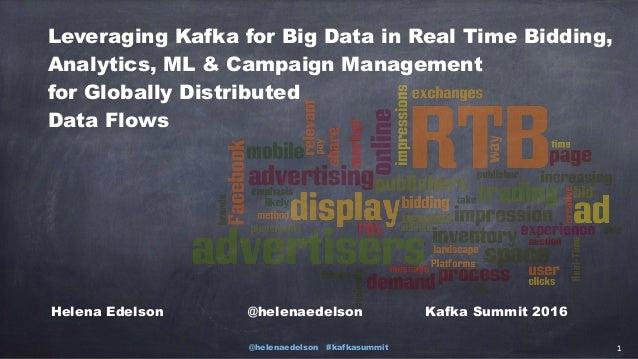 @helenaedelson #kafkasummit 1 Leveraging Kafka for Big Data in Real Time Bidding, Analytics, ML & Campaign Management for ...
