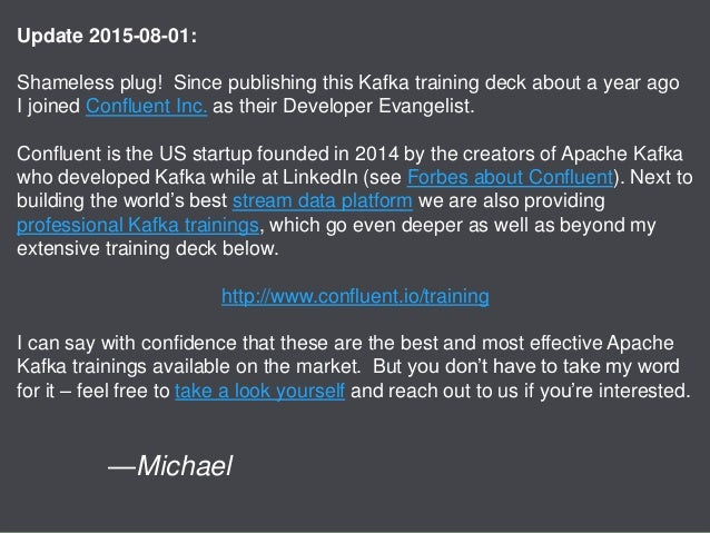 Apache Kafka 0.8 basic training - Verisign Slide 2