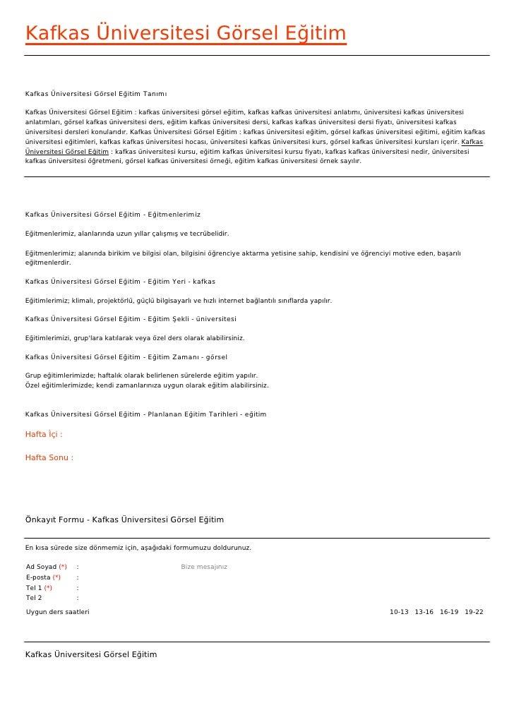 Kafkas Üniversitesi Görsel EğitimKafkas Üniversitesi Görsel Eğitim TanımıKafkas Üniversitesi Görsel Eğitim : kafkas üniver...