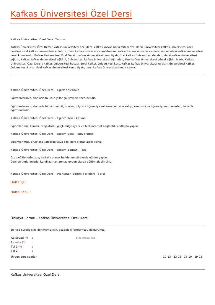 Kafkas Üniversitesi Özel DersiKafkas Üniversitesi Özel Dersi TanımıKafkas Üniversitesi Özel Dersi : kafkas üniversitesi öz...