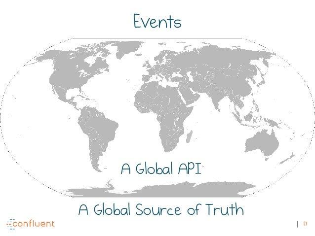 17 A Global API A Global Source of Truth Events