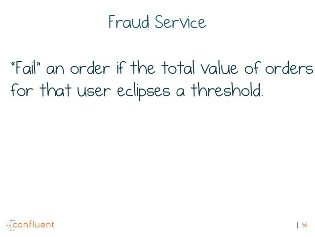 """56 Fraud Service """"Fail"""" an order if the total value of orders for that user eclipses a threshold."""