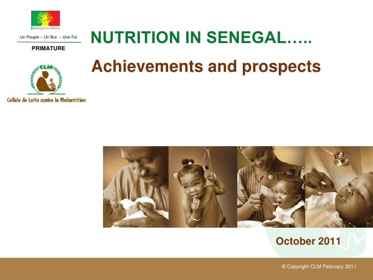 Un Peuple – Un But – Une Foi     PRIMATURE                               NUTRITION IN SENEGAL…..                          ...